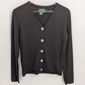 Lauren Ralph Lauren Silk Blend Cardigan Sweater PS